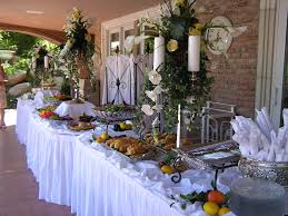buffet decor ideas christmas buffet table decoration ideas white banquet pleated