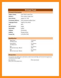 Bio Data Resume Sample Resume Bio Data Format Of Resume For Job Application To