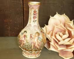 Capodimonte Vases Antique Angel Vase Etsy