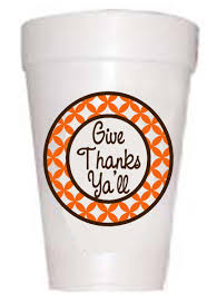 dining room thanksgiving personalized plastic cups for dinnerware