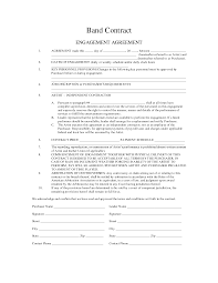 Sample Investment Agreement Band Agreement Contracts Templates