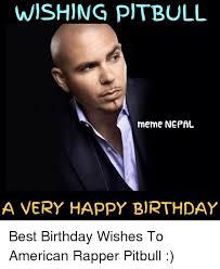 Birthday Wishes Meme - wishing pitbull meme nepal a very happy birthday best birthday