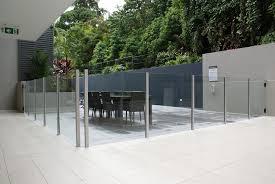 Frameless Glass Handrail Aluminum Railing System Square Glass Handrail Post