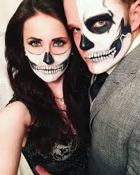 halloween makeup ideas 2017 couple costume ideas half skull makeup skull halloween dressy