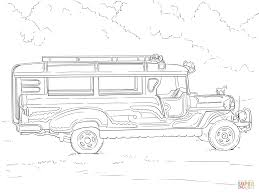 hippie van drawing philippine jeepney coloring page free printable coloring pages