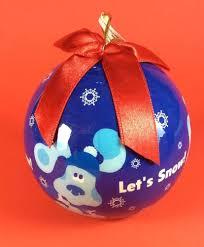 blues clues ornament 2003 enesco let s snow blue