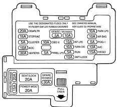 mercury cougar 7th generation 1989 u2013 1997 u2013 fuse box diagram