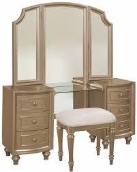 gold vanity stool regency park pearlized gold panel bedroom set from avalon