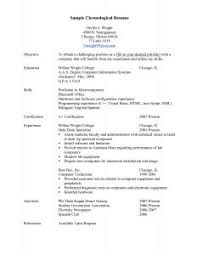 Chronological Resume Samples by Examples Of Resumes 89 Amazing Best Resume Samples For