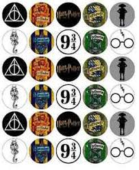 where to buy edible paper harry potter symbols cupcake toppers edible wafer paper buy 2 get