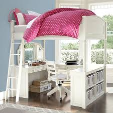 girls loft bed with a desk and vanity pb teen chelsea vanity loft bed tower dresser set simply white