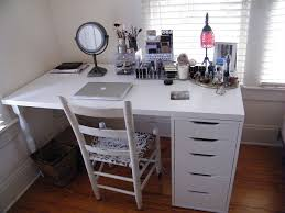 ikea makeup organization storage linnmon table top and alex drawer