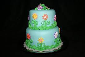 flower fondant cakes blue moon cakes spring flower fondant cake