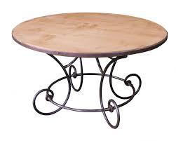 table de cuisine en fer forgé table ronde en métal fer forgé avec plateau en chêne