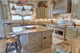 Staggered Cabinets Industrial French Country Kitchen U2014 Toulmin Cabinetry U0026 Design
