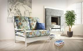 canapé classique tissu canapé classique en bois en tissu 2 places dahlia nieri
