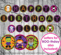 birthday banner halloween printable u2013 festival collections