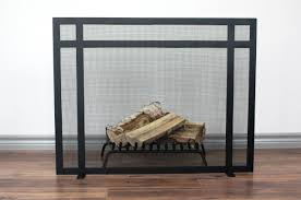 clark fireplace screen anvil fireside