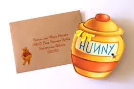 Winnie The Pooh Invitation Cards Embellished Paperie Blog Winnie The Pooh Hunny Jar Invites