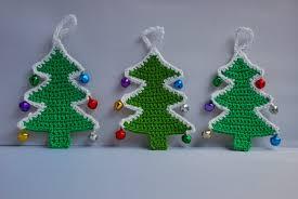 crocheted christmas amjaylou crochet christmas tree decoration