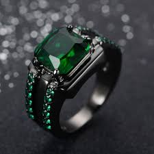 aliexpress buy real brand italina rings for men hot men s emerald ring fashion sapphire jewelry 10kt black gold filled