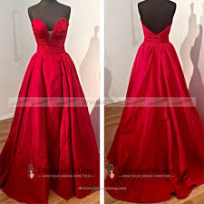 ruched sweetheart floor length prom dress vintage red long