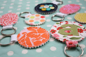 homemade gift ideas fabric scrap keychains perfect for secret