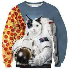 cat on the moon sweater shelfies