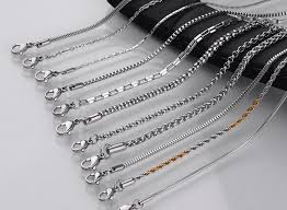 wholesale steel necklace chains images 304 316 1 10mm men girl ball snake cable box cuban link italian jpg