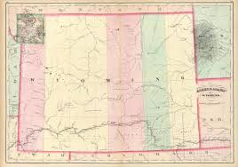 map of wyoming wyoming places map of wyoming 1874