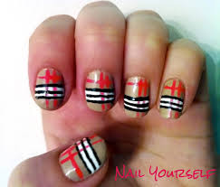 35 latest burberry nail art designs for trendy girls