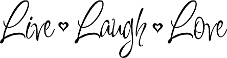 live laugh love vinyl decal wall stickers letters words home decor