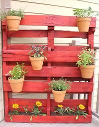 Pallet Gardening Ideas Pallet Garden Ideas Flowers Herbs Balcony Garden Paint Clay