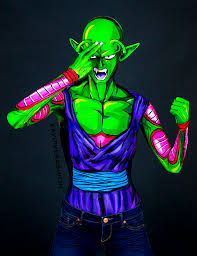 Piccolo Halloween Costume Piccolo Bodypaint 8 5x11 Print Kaypikefashion Store