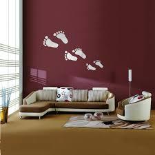 6pcs diy footprint acrylic wall sticker fat footprints mirror wall