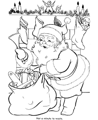 bluebonkers santa claus coloring pages 15
