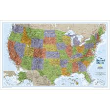 50 States Map With Capitals by United States Classic Wall Map National Geographic Store