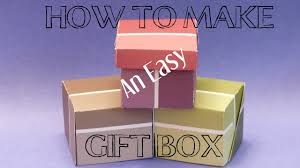 diy crafts how to make an easy gift box gift box making with