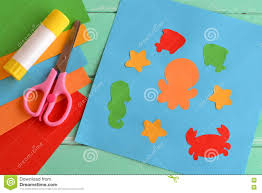 kids crafts in kindergarten creative children stock vector