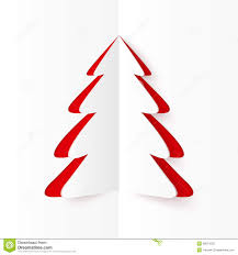 white and red cutout paper christmas tree stock photography