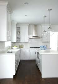 kitchen lighting ideas uk beautiful kitchen features a pair of clear glass globe pendants