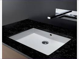 bathrooms glass drop in sink white ceramic sink rectangular