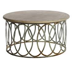 travertine top coffee table salinas round coffee table with light travertine top mecox gardens