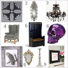 side 10 gothic inspired home accessories fresh design blog