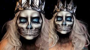 Skull Halloween Makeup Tutorial Lich King Jordan Hanz World
