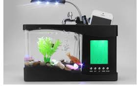 innovative unique home decoration mini usb lamp light fish tank