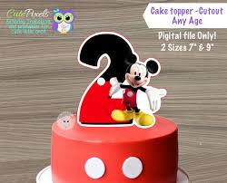 mickey mouse cake toppers mickey mouse centerpiece minnie mouse