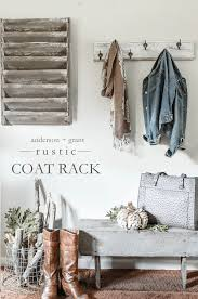 rustic coat rack makeover an afternoon project anderson grant