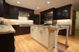 Dark Shaker Kitchen Cabinets Custom Dark Wide Frame Shaker Home Kitchen Design
