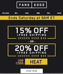 fans edge free shipping code fansedge coupon codes 20 north dakota travel deals